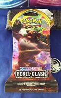 Pokemon Sword & Shield Rebel Clash Single Booster Blister Pack