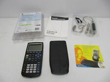 Texas Instruments TI-83 PLUS Graphing Calculator bundle USB Link manual CD rom