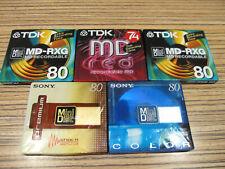 5 x Sony / TDK  in Folie  (114) MD  Minidisc OVP Ungebraucht