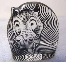 RARE Abraham Palatnik Lucite Acrylic Hippopotamus Hippo Sculpture Figurine 2393