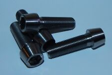 4x Titanium M12 x 1.25 x 40mm Fine Cone Allen Socket Head Bolts Light Weight
