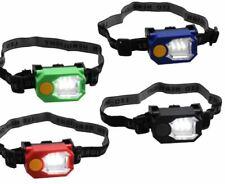 LED Headlamp Flashlight Head Light Headband Duel-Mode Lighting Blue Green Black