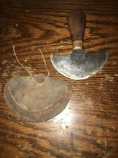 H.F. Osborne Vintage Leather Cutting Knife W/ Sheath!