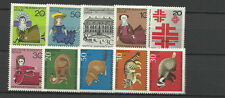 WEST GERMANY BERLIN 1968 COMPLETE YEAR STAMP COLLECTION 10v Mint Never Hinged