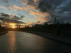 Photo Picture Moscow River Kremlin Evening Sunset