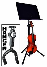 VIOLIN HANGER ONLY. ATTACHES TO MUSIC STAND UPRIGHT (not included) - NEW