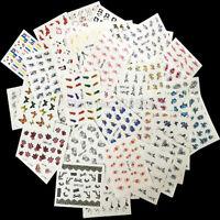 50 Sheets Mixed Designs  Watermark Decals Water Transfer Nail Art Sticker  DIY