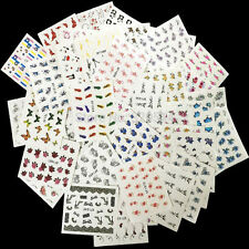 50 Sheets Mixed Designs  Watermark Decals Water Transfer Nail Art Sticker  DIY