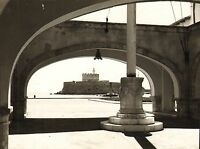 1960s copyright photo - fort at the entrance to mandraki harbour