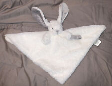 Blankets and Beyond Bunny Rabbit White/Gray Security Blanket Lovey
