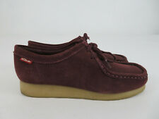 Clarks Padmora Wallabees Wine Suede Leather Crepe Shoes Womens Size 8.5M