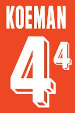 Holland Koeman Nameset 1992 Shirt Soccer Number Letter Heat Print Football H