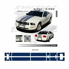 Ford Mustang 2005 to 2009 Bumper to Bumper Stripes Graphic Kit - Blue