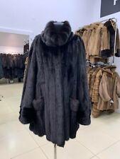 beautiful real mink genuine fur coat women XXXL midlong size NEW winter 1109065