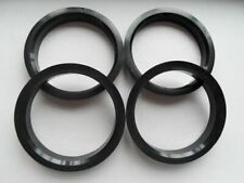 (4) Poly carbon Hubrings | 75mm Wheels to 72.56mm Car Hub (Hub centric rings)