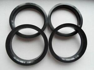 (4) Poly carbon Hubrings | 76mm Wheels to 72.56mm Car Hub (Hub centric rings)