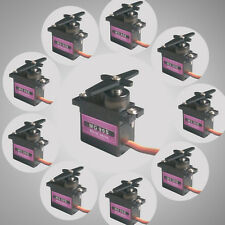 10pcs  Metal Gear RC Micro Servo 9g for Align Trex  T-rex 450 RC Helicopter B