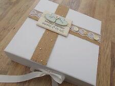 Personalised Vintage Shabby Chic Wedding/Engagement Keepsake Box Memory Box
