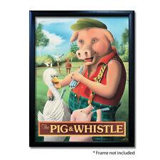 PIG & WHISTLE PUB SIGN POSTER PRINT | Home Bar | Man Cave | Pub Memorabilia