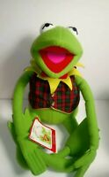 "Macy's Eden Toys Jim Henson's Muppets Kermit The Frog Plush  25"" Vest & Tie VTG"