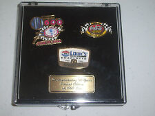 Nascar Charlotte Lowes Motor Speedway 50th Hat Cap Pin Set Coke 600 Limited 1960