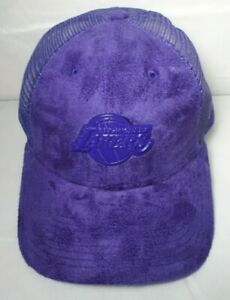 Los Angeles Lakers Women's New Era Faux Suede 9FORTY Adjustable Cap Hat