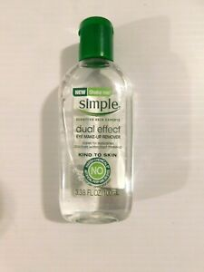 Simple Type A Effect Eye Makeup Remover, Dual Skin, 3.38 Ounce