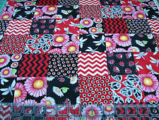 3 Yards Quilt Cotton Fabric - Henry Glass Fresh Designs Morning Mist Squares Red