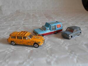 vintage Corgi toys to restore Citroen safari mini minor chipperfields poodles