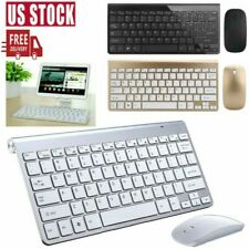 Mini USB 2.4G Wireless Keyboard & Mouse Combo Cordless Kit for Mac PC Computer