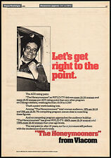 THE HONEYMOONERS__Original 1976 Trade AD / poster / TV promo__JACKIE GLEASON