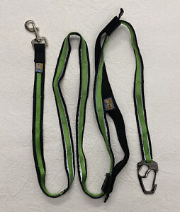 Kurgo Reflect And Protect Quantum Nylon Hands-Free Running Dog Leash, Green 6ft
