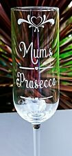 Personalised Engraved Prosecco Glass - New