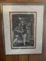 GEORGE ROUAULT 1871-1958 Original Framed Matted Aquatint Etching Clown au Schien
