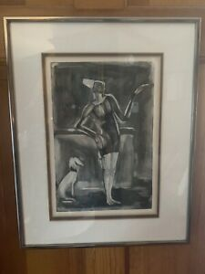 GEORGES ROUAULT 1871-1958 Original Framed COA Aquatint Etching Clown au Schien