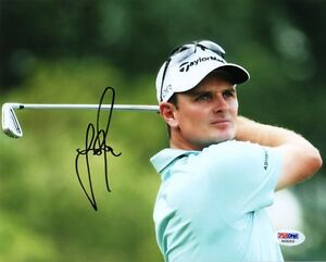 JUSTIN ROSE SIGNED AUTOGRAPHED 8x10 PHOTO US OPEN CHAMPION PSA/DNA