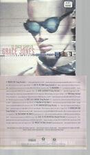 CD-GRACE JONES PRIVATE LIVE 12 TRACK SAMPLER //PROMO
