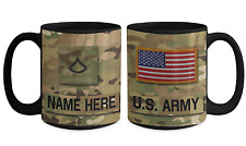 US Army Personalized Mug - PFC (E3) US Army Gift for Dad/Mom/Son/Daughter