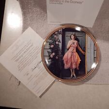 "Collector Plate #7 Rockwell's Rediscovered Women ""Standing in the Doorway"" Cp-63"