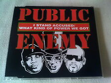 PUBLIC ENEMY - I STND ACCUSED / WHAT KIND OF POWER WE GOT - UK CD SINGLE