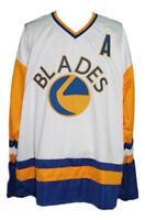 Any Name Number Size Saskatoon Blades Custom Retro Hockey Jersey White