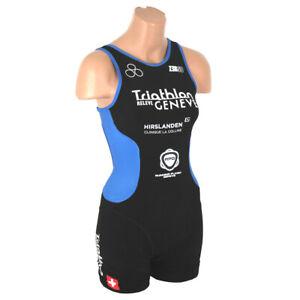 Zerod oSuit Damen Triathlon Anzug Suit Einteiler schwarz blau weiss