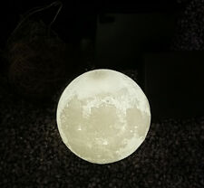 3D Moon Lamp USB LED Night Light Moonlight Touch Sensor 3Color Changing+Stand