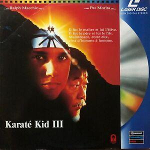 LASERDISC - KARATE KID III - VF PAL - RALPH MACCHIO, PAT MORITA
