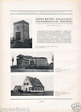 Baugeschäft Kunst Perleberg Reklame 1931 Ziegelei Umspannwerk Moorbad Wilsnack