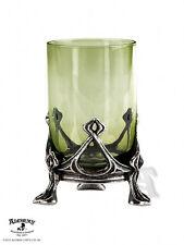 Alchemy Gothic La Fee Verte The Green Fairy Art Nouveau Pewter Base Shot Glass
