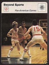 PAN-AMERICAN GAMES Canada vs Cuba Basketball 1978 SPORTSCASTER CARD 26-10