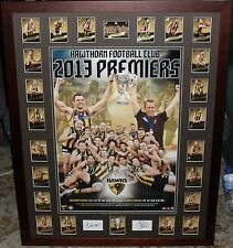 HAWTHORN 2013 Premiership Tribute poster & Premiership select card set *Signed*