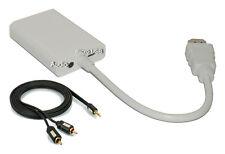 High Speed HDMI zu VGA Konverter, Full HD, 1080p + 1x 1,5m Klinke-Cinch Kabel