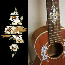 Hibiscus with Ribbon 10th Fret Marker for Tenor Ukulele Inlay Sticker Decal